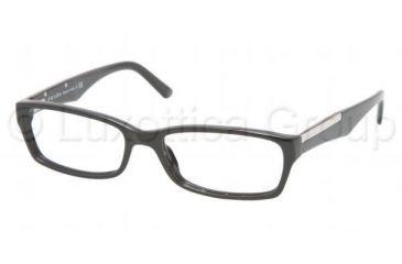 Prada PR 11MV Eyeglasses Styles - Gloss Black Frame w/Non-Rx 52 mm Diameter Lenses, 1AB1O1-5216