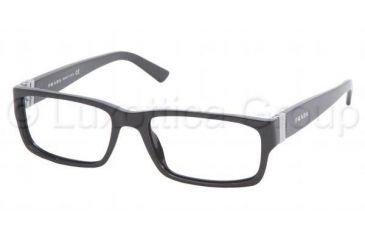 Prada PR 12LV Eyeglasses Styles - M:silver P:black Frame w/Non-Rx 53 mm Diameter Lenses, 7BN1O1-5317