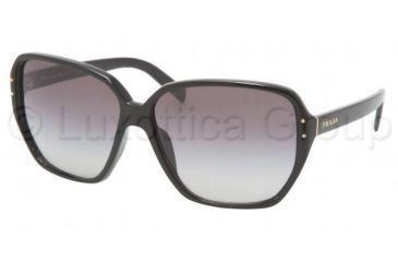 Prada PR16MS Single Vision Prescription Sunglasses PR16MS-1AB3M1-6013 - Lens Diameter 60 mm, Frame Color Gloss Black