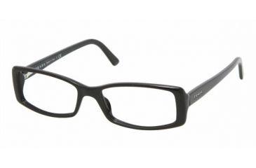 Prada PR 18MV Eyeglasses Styles - Gloss Black Frame w/Non-Rx 51 mm Diameter Lenses, 1AB1O1-5115
