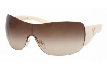 Prada PR 22MS Sunglasses Styles - Ivory Frame, Brown Gradient Lens ZVA6S1-0135