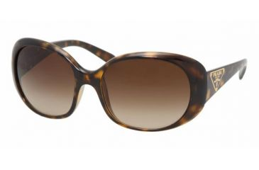 Prada PR27LS Single Vision Prescription Sunglasses PR27LS-2AU6S1-5717 - Lens Diameter 57 mm, Frame Color Havana