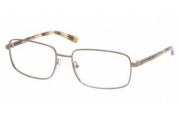 cd2cb4f0bb0e Prada PR 51NV Eyeglasses Styles - Brown Frame w Non-Rx 55 mm Diameter