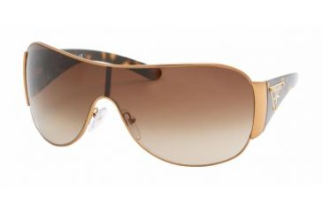 Prada PR 57LS Sunglasses Styles - Brass Frame / Brown Gradient Lenses, 7OE6S1-0132
