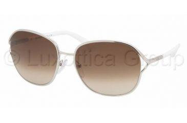 Prada PR 58MS Sunglasses Styles - Silver Frame / Brown Gradient Lenses, 1BC6S1-5916