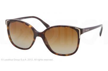 Prada PR01OS Single Vision Prescription Sunglasses PR01OS-2AU6E1-55 - Lens Diameter 55 mm, Frame Color Havana