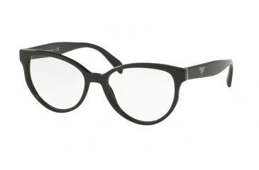 283e5aee557 Prada PR01UV Eyeglass Frames 1AB1O1-52 - Black Frame