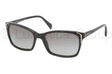 Prada PR02OS Sunglasses 1AB3M1-5417 - Black Frame, Gray Gradient Lenses