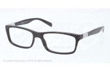 Prada PR02OV Prescription Eyeglasses 1BO1O1-53 - Matte Black Frame