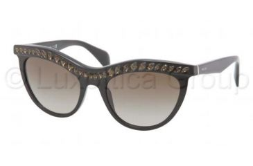 8095e61ec8 ... sweden prada pr04ps sunglasses 1ab1x1 5419 black brown gradient frame  brown gradient lenses 988a3 38fdf ...