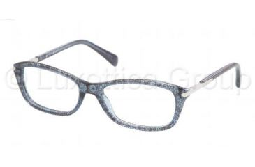 Prada PR04PV Single Vision Prescription Eyeglasses JAX1O1-5217 - Lace Shade Frame, Demo Lens Lenses