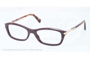 Prada PR04PV Prescription Eyeglasses ROM1O1-52 - Violet Frame