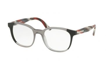 eae21e203cf8 Prada PR04UV Single Vision Prescription Eyeglasses VYL1O1-52 - Black grey black  Frame