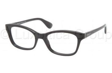Prada PR05PV Progressive Prescription Eyeglasses 1AB1O1-5018 - Black Frame