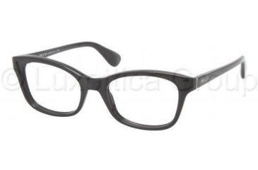 Prada PR05PV Progressive Prescription Eyeglasses 1AB1O1-5218 - Black Frame