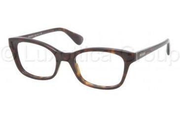 Prada PR05PV Progressive Prescription Eyeglasses 2AU1O1-5018 - Havana Frame