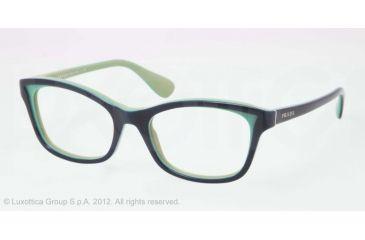 Prada PR05PV Progressive Prescription Eyeglasses OAB1O1-50 - Top Blue/Turquoise/Green