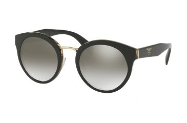 ea55990e0778 Prada PR05TS Sunglasses NAI5O0-53 - Black medium Havana Frame