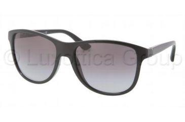 Prada PR06OS Progressive Prescription Sunglasses PR06OS-1AB3M1-5717 - Frame Color Black, Lens Diameter 57 mm