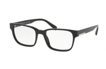 0c358f78bd8 Prada PR06UVF Progressive Prescription Eyeglasses 1AB1O1-54 - Black Frame