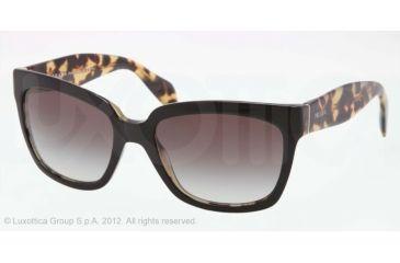 Prada PR07PS Progressive Prescription Sunglasses PR07PS-NAI0A7-56 - Lens Diameter 56 mm, Lens Diameter 56 mm, Frame Color Top Black/Medium Havana