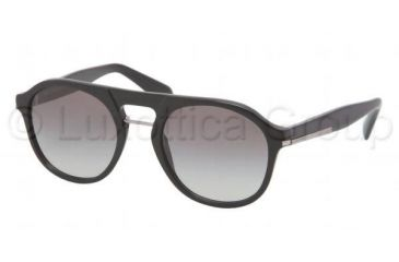 Prada PR09PS Sunglasses 1AB0A7-5120 - Black Frame, Gray Gradient Lenses