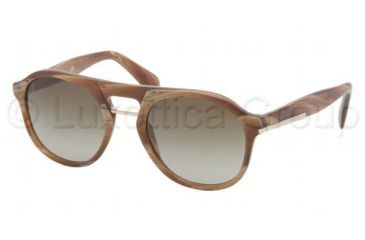 Prada PR09PS Bifocal Prescription Sunglasses PR09PS-MAQ1X1-5120 - Lens Diameter 51 mm, Frame Color Light Horn