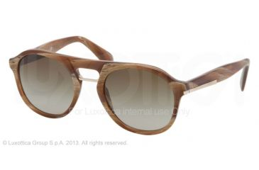 Prada PR09PS Bifocal Prescription Sunglasses PR09PS-MAQ1X1-54 - Lens Diameter 54 mm, Frame Color Light Horn