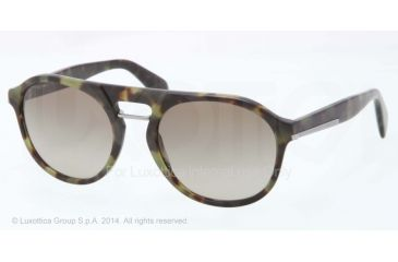 Prada PR09PS Bifocal Prescription Sunglasses PR09PS-NAJ1X1-51 - Lens Diameter 51 mm, Frame Color Matte Green Havana