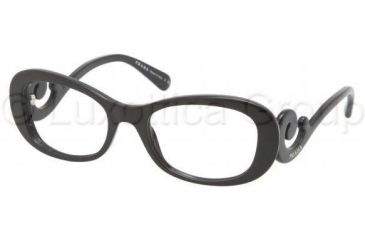 Prada PR09PV Progressive Prescription Eyeglasses 1AB1O1-5219 - Black Frame