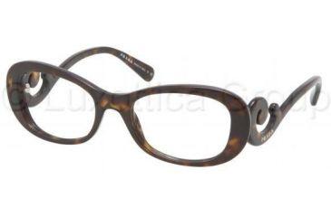 Prada PR09PV Progressive Prescription Eyeglasses 2AU1O1-5219 - Havana Frame