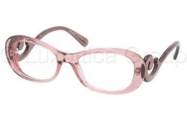Prada PR09PV Progressive Prescription Eyeglasses CAI1O1-5419 - Pink Frame