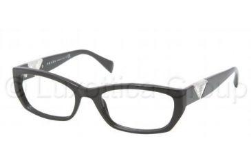 Prada PR10OVA Bifocal Prescription Eyeglasses 1AB1O1-5218 - Gloss Black Frame