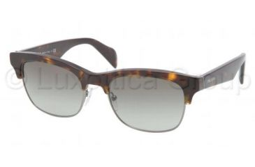 Prada PR11PS Sunglasses 2AU3M1-5419 - Havana Frame, Gray Gradient Lenses