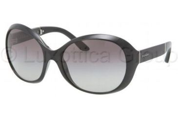 Prada PR12OS Sunglasses 1AB3M1-6118 - Black Frame, Gray Gradient Lenses