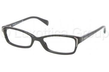 Prada PR12OV Bifocal Prescription Eyeglasses 1AB1O1-5117 - Black Frame