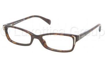 Prada PR12OV Single Vision Prescription Eyeglasses 2AU1O1-5117 - Havana Frame