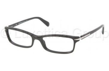 Prada PR14NV Progressive Prescription Eyeglasses 1AB1O1-5216 - Black