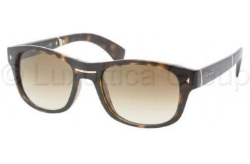 Prada PR14OS Sunglasses 2AU0B3-5420 - Havana Frame, Crystal Brown Gradient Lenses