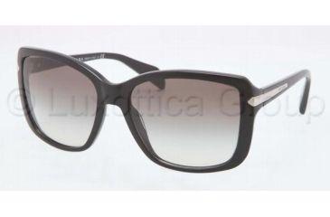 Prada PR14PS Single Vision Prescription Sunglasses PR14PS-1AB0A7-5918 - Frame Color Black, Lens Diameter 59 mm