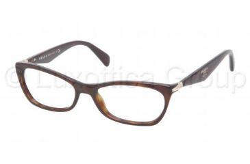Prada PR15PV Progressive Prescription Eyeglasses 2AU1O1-5316 - Havana Frame