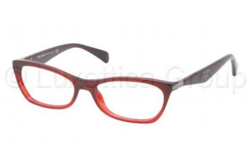 315471e0f9 Prada PR15PV Eyeglass Frames MAX1O1-5316 - Bordeaux Gradient Red Frame