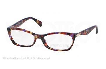 Prada PR15PV Progressive Prescription Eyeglasses PDN1O1-53 - Spotted Violet Havana Frame