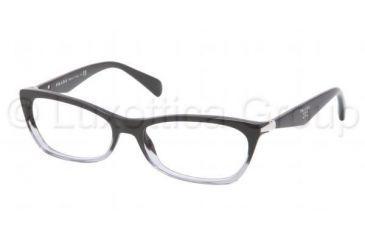 Prada PR15PV Progressive Prescription Eyeglasses ZYY1O1-5316 - Black Gradient Frame