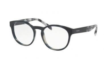 8643c93161 Prada PR16TV Eyeglass Frames USI1O1-50 - Striped Grey Frame