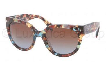 Prada PR17OS Progressive Prescription Sunglasses PR17OS-NAG0A4-5422 - Lens Diameter 54 mm, Frame Color Havana Spotted Blue