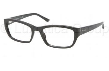Prada PR18OV Bifocal Prescription Eyeglasses 1AB1O1-5218 - Black Frame