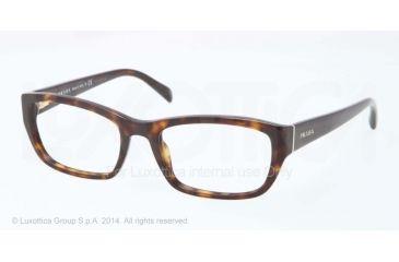 Prada PR18OV Bifocal Prescription Eyeglasses 2AU1O1-52 - Havana Frame