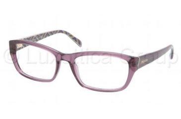 Prada PR18OV Bifocal Prescription Eyeglasses 7WR1O1-5218 - Transparent Violet Frame