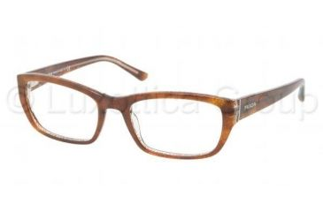 Prada PR18OV Progressive Prescription Eyeglasses BF41O1-5218 - , Demo Lens Lenses